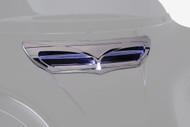 Ciro LED Front Fairing Vent Trim Chrome w/LED (40020)