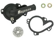 Boyesen Supercooler Water Pump Cover & Impeller Kit Black (WPK-37B)