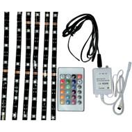 Brite Lites LED Accent Strip Light Kit w/Remote Control Multi Color (BL-RGBLEDM)