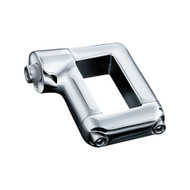 Kuryakyn Curved Side License Plate Mount Chrome (3187)