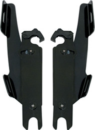 Memphis Shades Batwing Fairing Trigger-Lock Plates-Only Black (MEB8865)