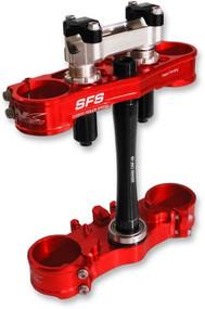 Neken SFS Air Adjustable Tridium Triple Clamps Red (0309016)