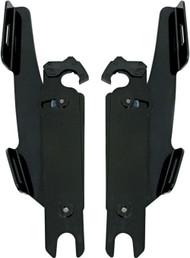 Memphis Shades Batwing Fairing Trigger-Lock Plates-Only Black (MEB1708)