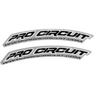 Pro Circuit .COM Front Fender Decals Black (DC0005)