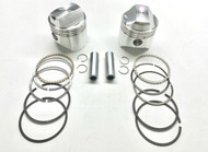 """Wiseco 1000cc Sportster Forged Piston Kit +.030"""" 3.218"""" Bore (K1603)"""
