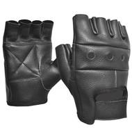 Fulmer 550 Blaze Mens Fingerless Leather Motorcycle Gloves
