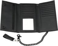 Z1R Long Tri-Fold Wallet w/Bike Chain & Clasp