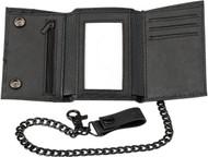 Z1R Tri-Fold Wallet w/Biker Chain & Clasp