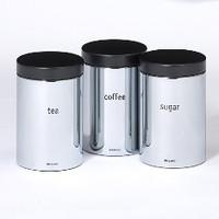 Brabantia Vorratsbehälter 3er-Set 1.4 Liter in glänzendem Stahl