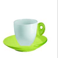 Guzzini Feeling 6 Espressotassen mit Untertassen Set in Grün