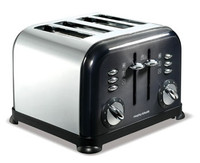 Morphy Richards 44733 Accents Translucent 4 Scheiben Toaster schwarz