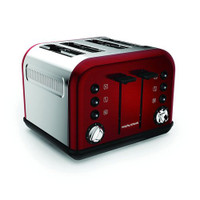Morphy Richards 242004 Accents 4-Scheiben Toaster in Rot