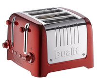 Dualit-Lite-Peek-N-Pop-46211 4-Scheiben Toaster in Rot