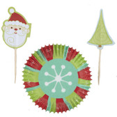 Wilton Christmas Snowflake Wishes Cupcake Combo Pack