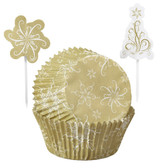 Wilton Christmas Sparkle and Cheer Cupcake Combo Baking Cups and Picks