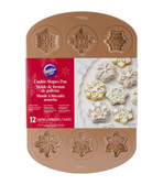 Wilton Cookie Shapes Pan Snowflake 12 Cavity