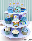 Cake Craft 3 Tier Blue Cupcake Stand