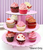 Cake Craft 3 Tier Pink Cupcake Stand