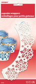 Cupcake Wrappers Snowflake pk 12