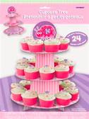 Cardboard Cupcake Stand 1st Birthday Ladybug
