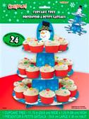 Cardboard Cupcake Stand Snowflake