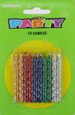 10 Metallic Spiral Candles