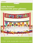 Cake Banner Birthday Confetti 16.5cm