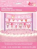 Cake Banner Pink Clothesline Baby Shower 16.5cm
