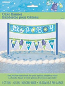 Cake Banner Blue Clothesline Baby Shower 16.5cm