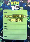 Ben 10 Party Invites