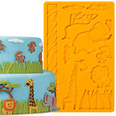 Wilton Jungle Animals Fondant and Gum Paste Mold