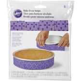 Wilton Bake Even Cake Strips 6pc