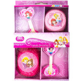 Sparkle Disney Princess Party Cupcake Decorating Kit 24pk