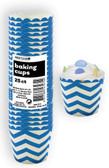 CHEVRON ROYAL BLUE 25ct PAPER BAKING CUPS