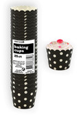DOTS MIDNIGHT BLACK 25ct PAPER BAKING CUPS