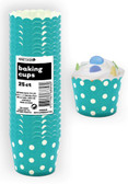 DOTS CARIBBEAN TEAL 25ct PAPER BAKING CUPS