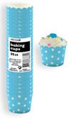 STARS POWDER BLUE 25ct PAPER BAKING CUPS