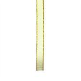 10mm Satin Ribbon - Cream/Gold 8m