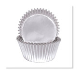 CAKECRAFT 700 SILVER FOIL BAKING CUPS PACK OF 72
