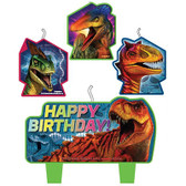 JURASSIC WORLD BIRTHDAY CANDLE SET