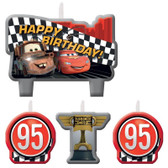 CARS FORMULA RACER BIRTHDAY CANDLE SET
