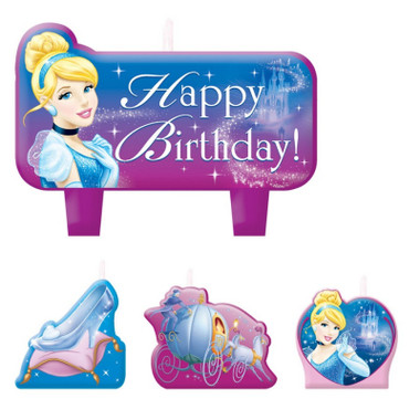 CINDERELLA BIRTHDAY CANDLE SET