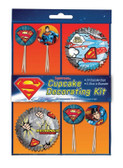 SUPERMAN CUPCAKE DECORATIONS KIT