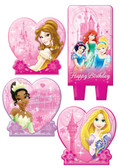 DISNEY PRINCESS SPARKLE BIRTHDAY CANDLE SET