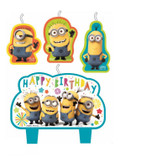 DESPICABLE ME BIRTHDAY CANDLE SET