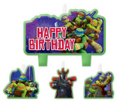TEENAGE MUTANT NINJA TURTLES BIRTHDAY CANDLE SET