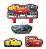 DISNEY CARS 3 BIRTHDAY CANDLE SET