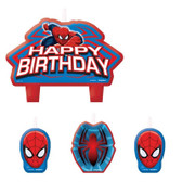 ULTIMATE SPIDER-MAN BIRTHDAY CANDLE SET