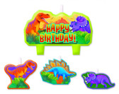 PREHISTORIC DINOSAUR PARTY BIRTHDAY CANDLE SET