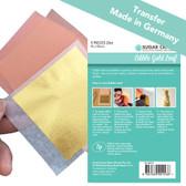 EDIBLE GOLD LEAF 23KT - BOOK OF 5 SHEETS (TRANSFER)